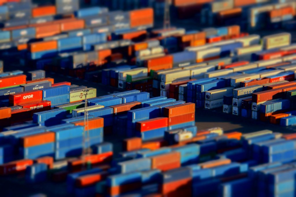 Containers - Tilt shifted